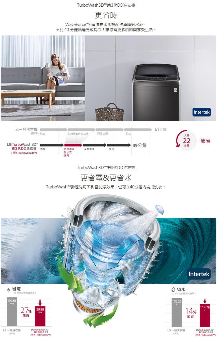 LG洗衣機WT-SD159HVG